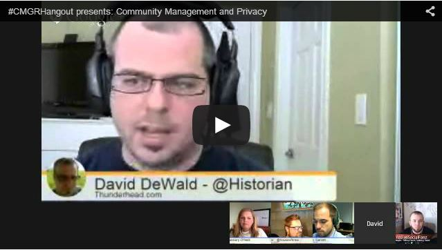 #CMGRHangout presents: Community Management and Privacy